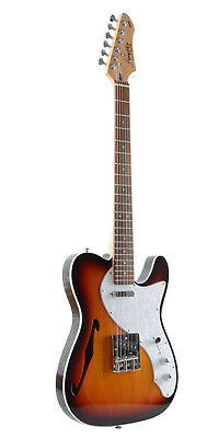 New Firefly FFTH Semi-Hollow body Guitar Electri Gutiar (Sunburst Color)