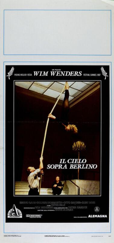 WINGS OF DESIRE 1987 Bruno Ganz, Solveig Dommartin Otto Sander ITALIAN LOCANDINA