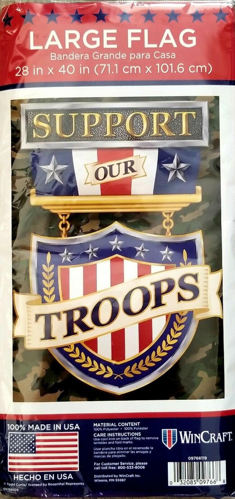 support our troops large flag made by