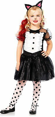 Girls Cute Tuxedo Kitty Cat Formal Attire Dress Outfit Kids Halloween Costume XS - Cute Kitty Costumes