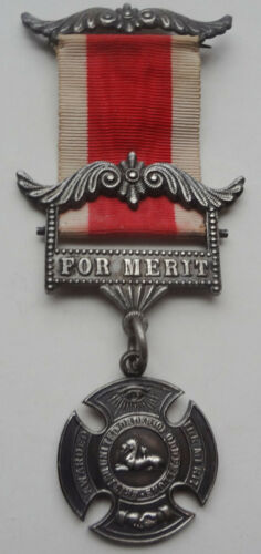 VRare 1899 STERLING SILVER merit award BRITISH UNITED ORDER of ODD FELLOWS MEDAL