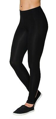 Blickdichte Damen Basic Leggings Bunte Leggins Lang Viskose Lycra schwarz grau Basic Leggings