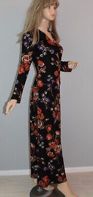 70er 70s Vintage VTG Maxikleid Kleid Maxi Dress HIPPIE DRESS KOSTÜM ROCK + (Hippie Vintage Kostüm)