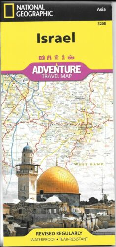 Map of Israel, National Geographic Adventure Maps