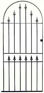 WROUGHT IRON METAL GARDEN SIDE GATE Kingsbury Bow 915mm