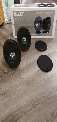 2 x KEF HTS KHT 3001SE Black Finish Surround Sound Cinema Loud Speakers
