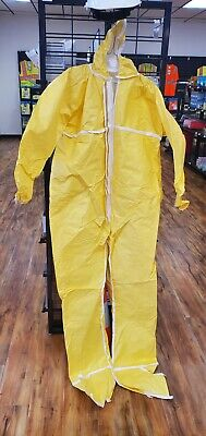 Marmac Dupont Tyvek New Small Yellow Coverall Suit W Hood And Boot