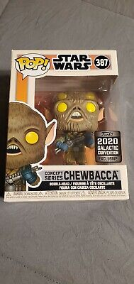 Funko POP Chewbacca 387 2020 Galactic FREE SHIPPING RARE STAR WARS VAULTED