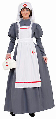 War Nurse Costume (American Civil War Nurse Costume Womens Dress Red Cross Barton Nightingale)