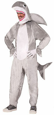 Deluxe Shark Halloween Costume Adult Men Women Gray Fish Jaws Week Standard New