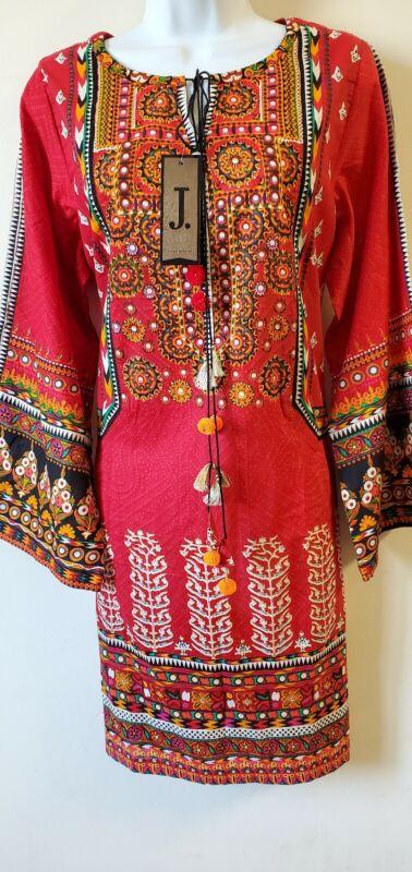 Pakistani 1PC Cotton Shirt Tunic Pink Women Size Large New With Tags