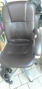 Leather office chair solid, very good condition for $39 in Melville