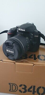Nikon D3400 DSLR Camera with AF-P DX 18-55 VR Lens - Black