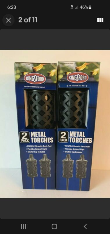 KINGSFORD METAL TIKI TORCH 2 PACK - 59 In. Black - Metal Patio Torch