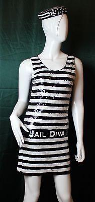 Kostüm Jail Diva - Häftling weiblich von Widmann Größe (Häftling Kleid Kostüm)