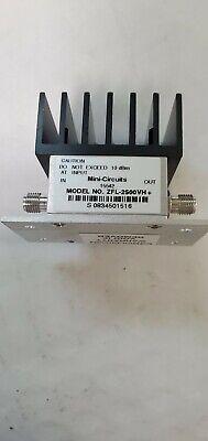 Mini-circuits Zfl-2500vhb Rf Amplifier 50 Medium Power 10 To 2500 Mhz Sma