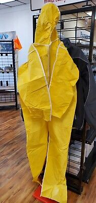 Marmac Dupont Tyvek New Yellow Coverall Suit W Hood - Size Small