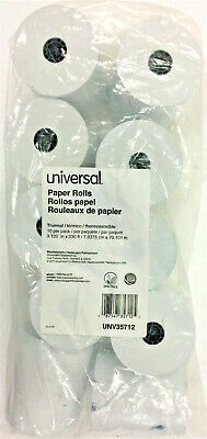 Universal Deluxe Direct Thermal Printing Paper Rolls3.13 X 230 Ftwhite10pk