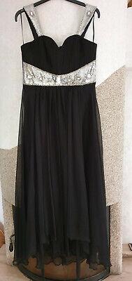 40/42 Kleid Ball Hochzeit Abi schwarz ausgefallen schön einmalig Maße beachten.
