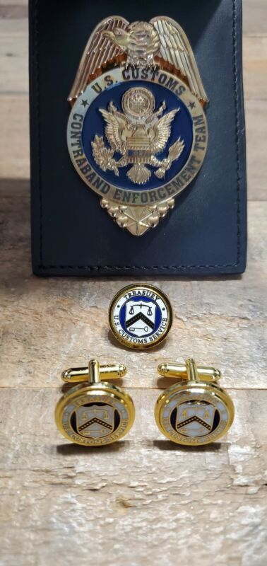 Obsolete U.S. Customs Service Contraband Enforcement Team Replica Shield Set