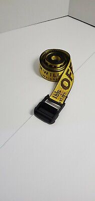 Authentic NWT Off White Industrial YELLOW Belt Iron Black Buckle Virgil Abloh