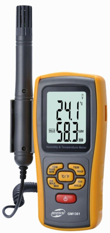 Handheld K Type Thermocouple Temperature 1000C Humidity 2in1 Meter Tester GM1361
