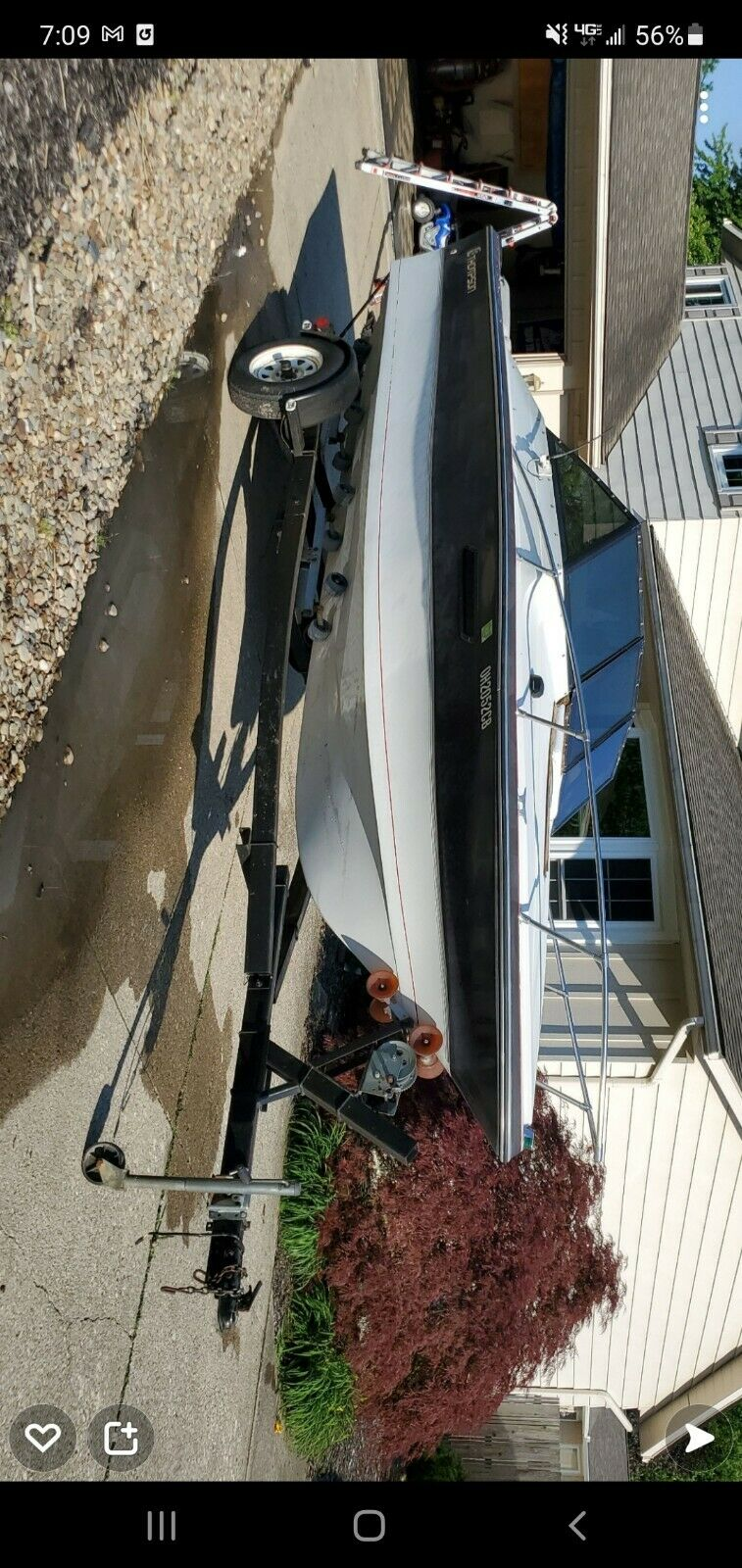 1986 Thompson boat and trailer