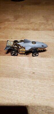 80's Hot Wheels Shark Cruiser 1986 Diecast Toy Car Gangster Shark Gold Grill