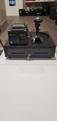 Square Register Bundle Star Usb Receipt Printer Scanner Cash Drawer Combo.