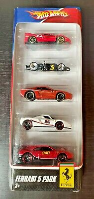 2009 Hot Wheels Ferrari 5-pack Imperfect Package