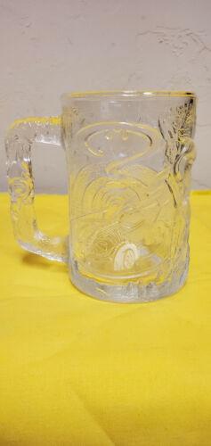 1995 DC Comics McDonalds Batman Forever Clear GLASS ROBIN MUG / CUP