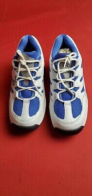 WOMEN 9  Z-Coil Legend Classic White Blue Leather Shoes Lace-Up Comfort Walking