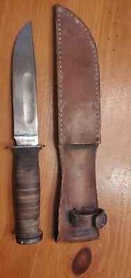 """ROBESON, SHUREDGE, USA, WWII 6"""" FIGHTING UTILITY KNIFE, c. 1940'S WW2 Army"""