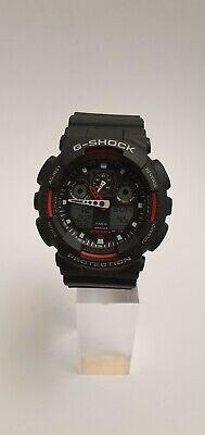 Casio G-Shock Men's Black Resin Strap World Time Watch ~ GA-100-1A4ER ~ NO BOX~