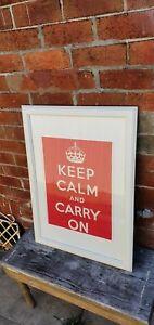 Nicely framed keep calm and carry on print