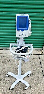 Welch Allyn Spot Vital Signs Lxi 45nto Monitor Cart W Basket Temp O2 Cuff
