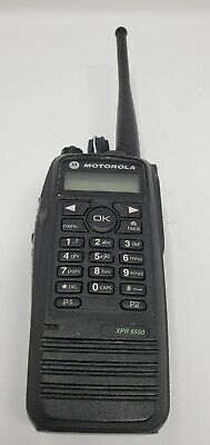 Motorola Xpr6550 Uhf 403-470 Mhz Mototrbo Digital Analog Radio. Aah55qdh9la1an