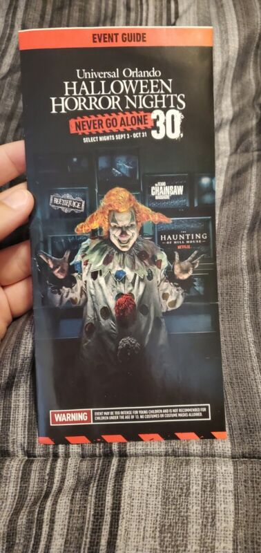 2021 HHN 30 Universal Studios Halloween Horror Nights Brochure Event Guide Map