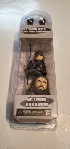 CUSTOM EARBUDS 2-PACK NECA SCALERS  BATMAN & AQUAMAN Ages8+