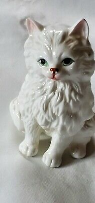 "White bone china 3 3/4"" cat figurine"