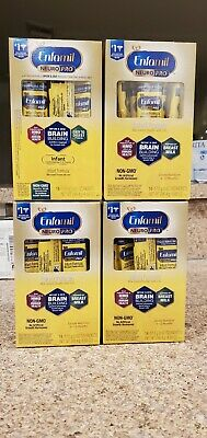 (4) Boxes of Enfamil NeuroPro Infant Formula 14ct Powder Packets .62oz Each