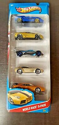 Hot Wheels 5-pack World Race Lamborghini Mazda Lotus Aston Martin