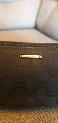 Genuine Black Gucci GG Monogram Pochette Clutch Bag