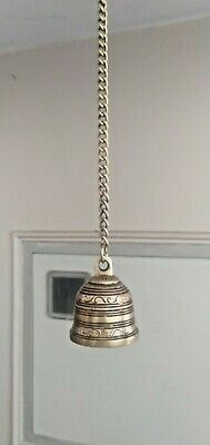 Brass Wall Hanging Bell Antique Look Hindu Temple bell Puja Home Decor New Gift for sale  Shipping to Canada