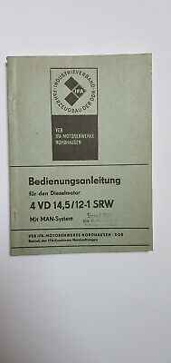 Bedienungsanleitung Dieselmotor 4 VD 14,5/12-1 SRW mit MAN-System 1979 DDR IFA, usado comprar usado  Enviando para Brazil