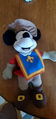 Disney Store Exclusive Mickey Mouse Three Musketeers Plush Mickey Mouse Musketeers