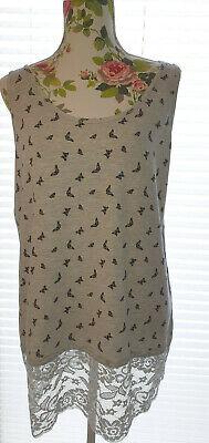 Damen Top Shirt Longtop Spitze Gr.XL online kaufen