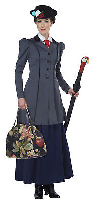 Mary Poppins English Nanny Adult Women Costume  (English Nanny Costume)