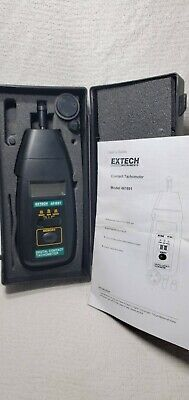 Extech 461891 Digital Contact Tachometer In Case W 3 Tips Instructions