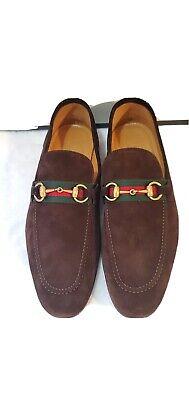 Gucci Suede Horsebit Loafer Men - gucci size 8